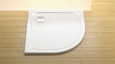 Arttec STONE 9090R - S sprchová vanička čtvrtkruhová odpad střed