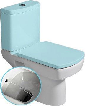 SAPHO BASIC wc mísa kombi s integrovaným bidetem, spodní/zadní odpad, 35 x 61 cm