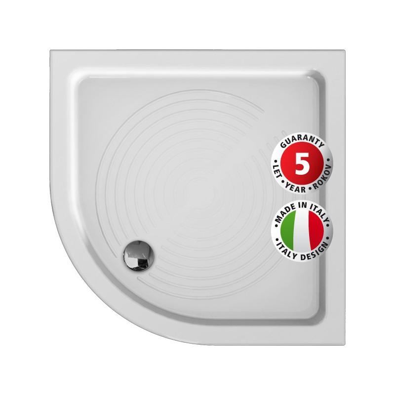 Hopa Keramická čtvrtkruhová sprchová vanička ELARA Rozměr: 80 cm