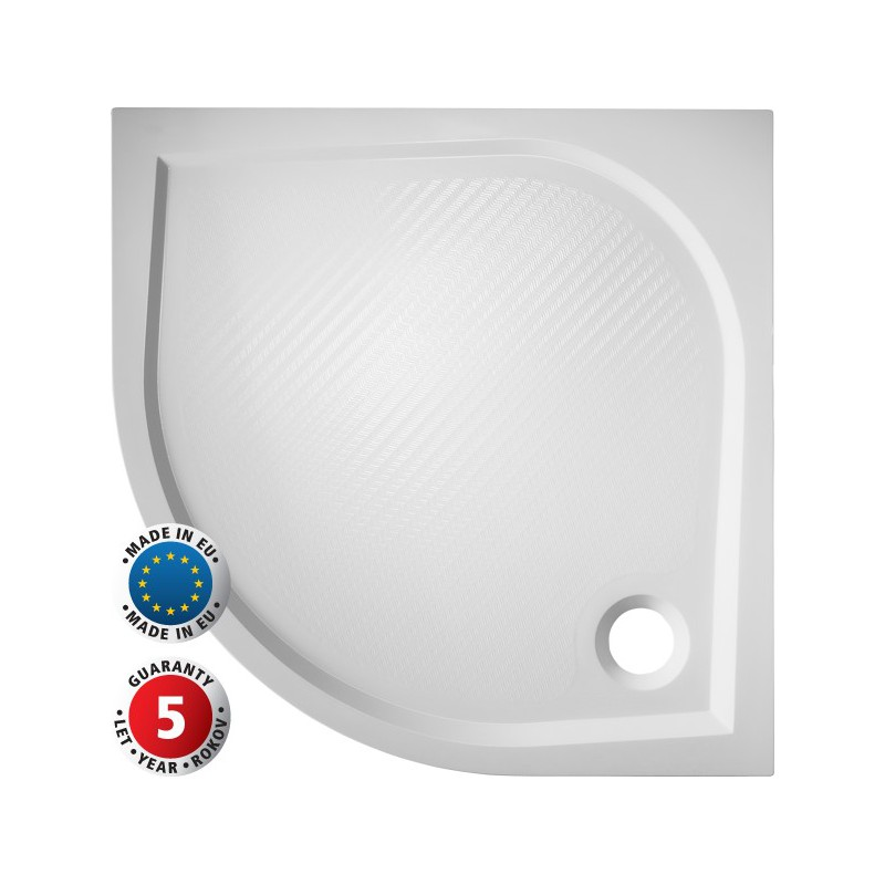 Hopa Čtvrtkruhová sprchová vanička SOFIA Rozměr: 80 cm