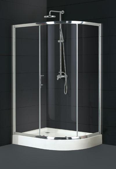 Olsen Spa GRANDAS Čtvrtkruhový atypický sprchový kout , chrom, 90×100 ×195 cm