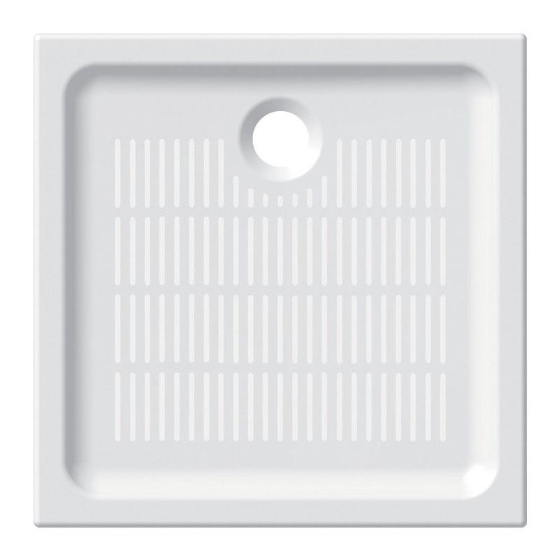 Mereo Čtvercová sprchová vanička, 90x90x6,5 cm, keramická