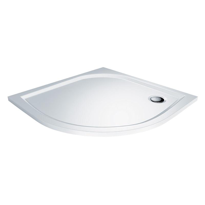 Mereo Sprchový set: sprchový kout, čtvrtkruh, 90x185 cm, R550, chrom ALU, sklo Čiré, litá vanička