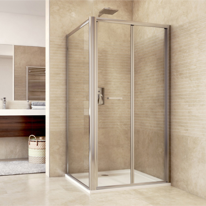 Mereo Sprchový kout, Mistica Exclusive, obdélník, 80x100 cm, chrom. profily, sklo 6 mm, zalamovací dveře Výplň: čiré