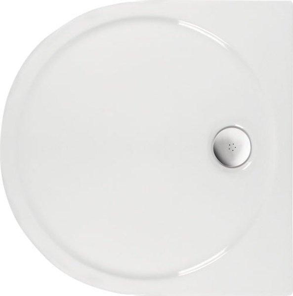 Polysan RIO sprchová vanička akrylátová, půlkruh 90 x 90 cm