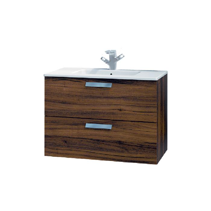 A-interiéry Mantra O 80 - koupelnová skříňka závěsná zásuvková s keramickým umyvadlem