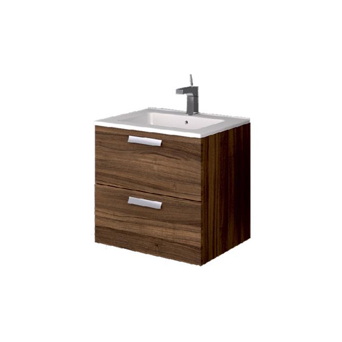 A-interiéry Mantra O 60 - koupelnová skříňka závěsná zásuvková s keramickým umyvadlem