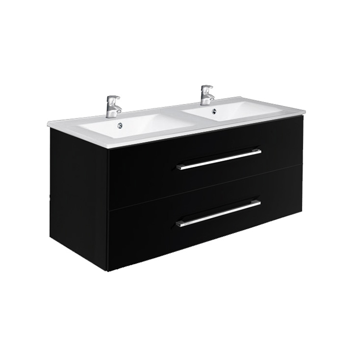 A-interiéry Trento B 120 - koupelnová skříňka závěsná zásuvková s keramickým umyvadlem