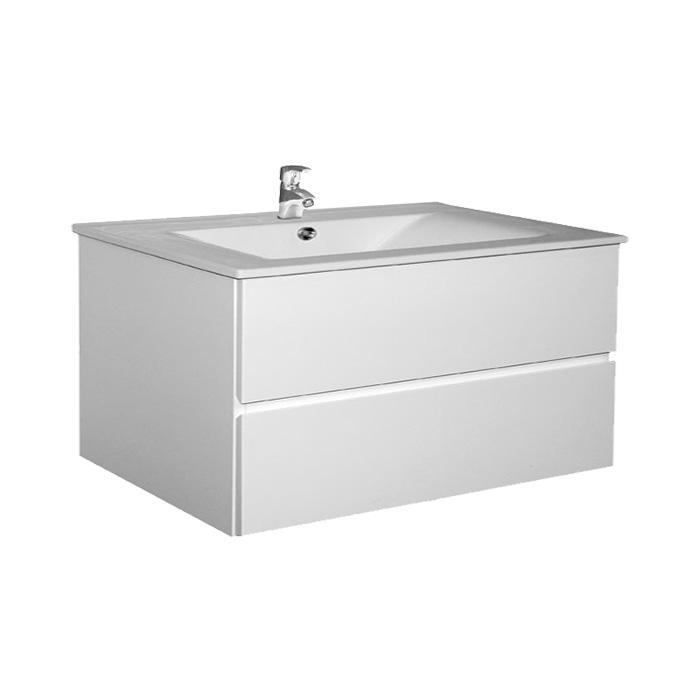 A-interiéry Brunette 100 - koupelnová skříňka závěsná zásuvková s keramickým umyvadlem