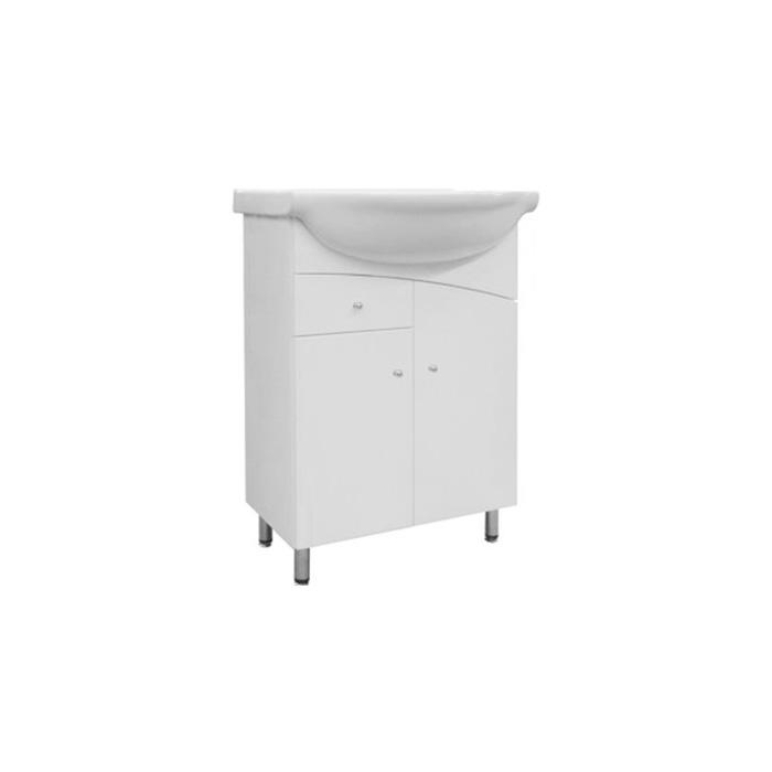 A-interiéry Uno 65 ZV - koupelnová skříňka s keramickým umyvadlem