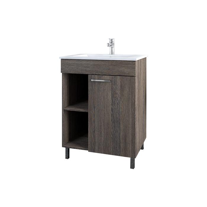 A-interiéry Domi 60 - koupelnová skříňka závěsná s keramickým umyvadlem