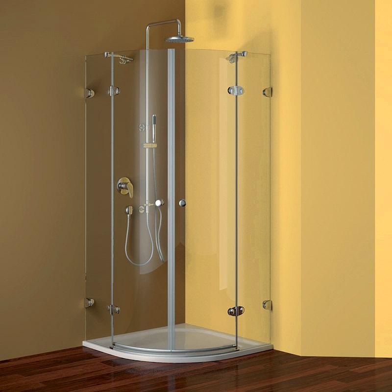 Mereo Fantasy sprchový kout čtvrtkruh 90 cm R550, chrom ALU, sklo Čiré / Ledové Výplň: čiré