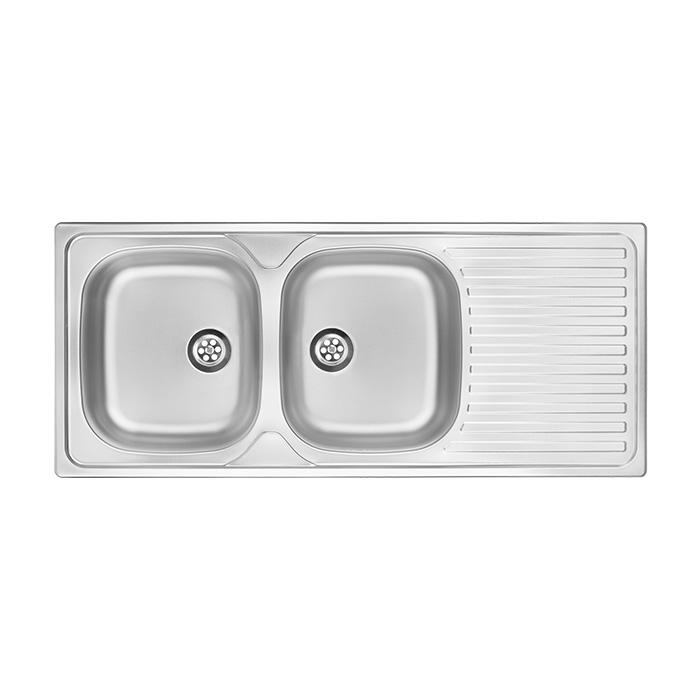 A-interiéry Toronto 0210 - nerezový kuchyňský dřez 116,5 x 50 cm