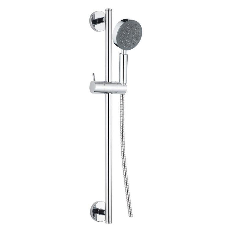 Mereo Sprchová souprava, jednopolohová sprcha, dvouzámková nerez hadice, stavitelný držák, plast/chrom (CB900C)