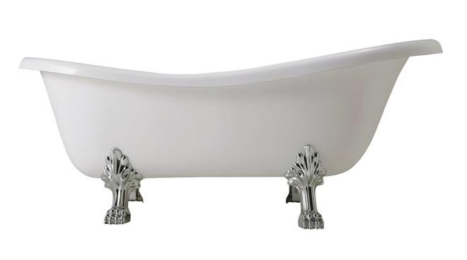 Hopa vana volně stojící volně stojící vana 170 × 80 × 72 cm, nohy chrom / bílé