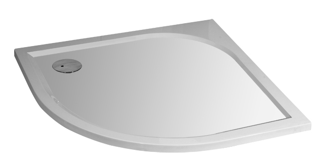 Arttec BRILIANT 90 chinchila NEW - Sprchový kout čtvrtkruhový + vanička STONE Otvor pro sifon: Vlevo