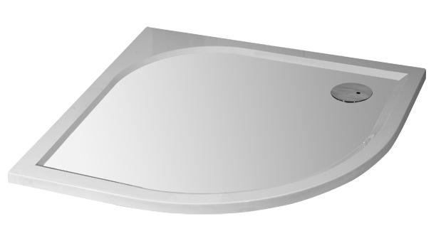 Arttec BRILIANT 90 chinchila NEW - Sprchový kout čtvrtkruhový + vanička STONE Otvor pro sifon: Vpravo