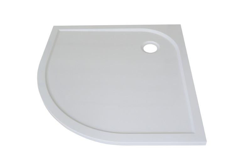 Arttec BRILIANT 90 chinchila NEW - Sprchový kout čtvrtkruhový + vanička STONE Otvor pro sifon: Střed