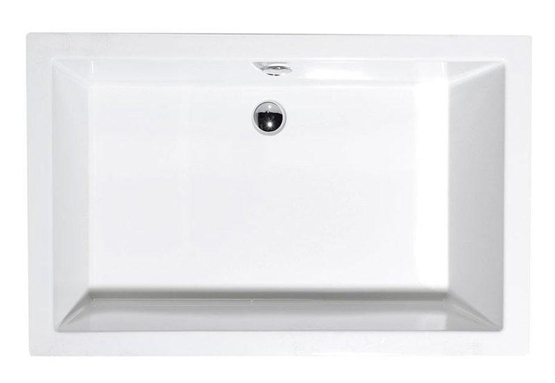 Polysan DEEP 120x90 hluboká sprchová vanička 120x90x26cm, bílá s podstavcem