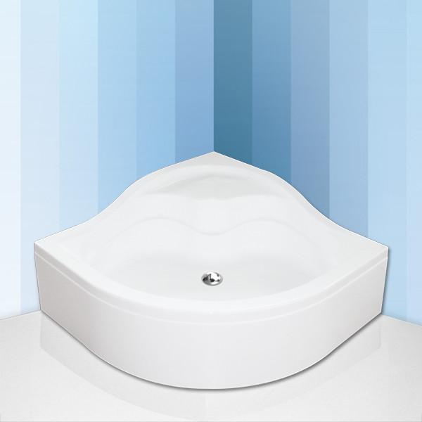 Roltechnik SEMIDEEP NEO 90x90 cm- Čtvrtkruhová samonosná polohluboká sprchová vanička
