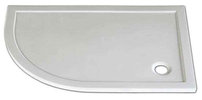 Arttec STONE 1080R P - sprchová vanička čtvrtkruhová pravá