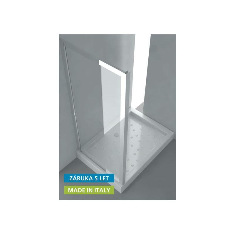 Hopa ANTA FISSA S Pevná stěna leštěný hliník/čiré sklo Rozměr: 61–67 × 190 (v) cm