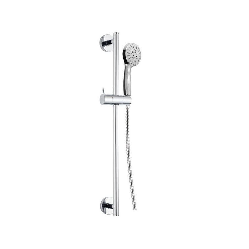 Mereo Sprchová souprava, pětipolohová sprcha, dvouzámková nerez hadice, stavitelný držák, plast/chrom (CB900R)