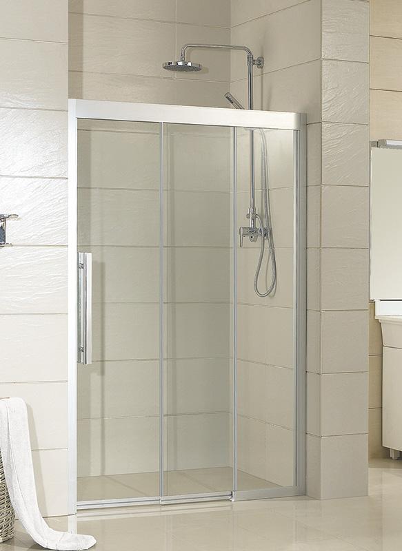 Hopa 3-dílné posuvné sprchové dveře Martos 100x195 cm Varianta: Pravá