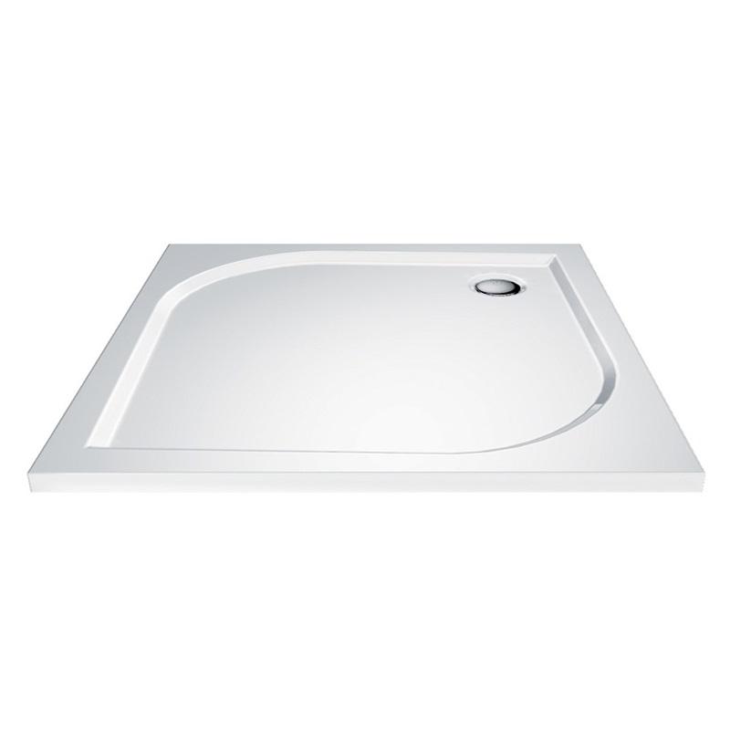 Mereo CV 41M Vanička sprchová litá, bílá, čtvercová, 80 x 80 x 3 cm