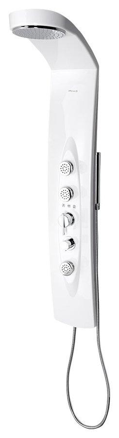 Polysan MOLA sprchový panel 210 x 1300 mm s termostat. baterií, nástěnný (80365)