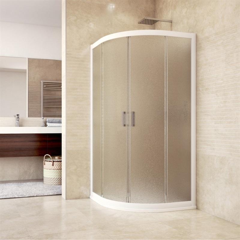 Mereo Sprchový set: sprchový kout 100x100x193 cm, R550, bílý ALU, sklo Grape, litá vanička (CK608B61HM)