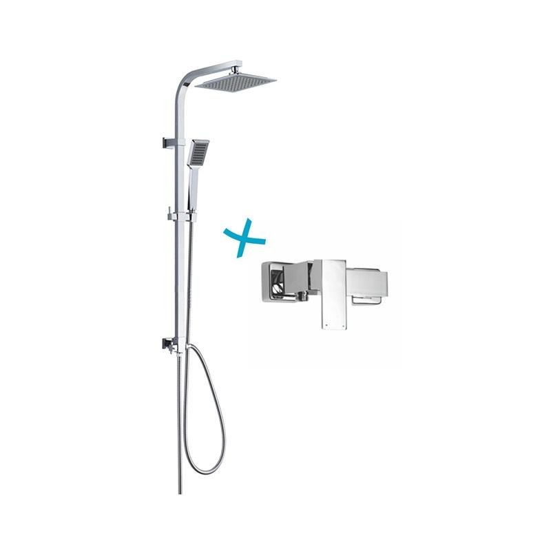 Mereo Sprchová souprava Quatro, plastová hlavová sprcha a jednopolohová ruční sprcha + srpchová baterie