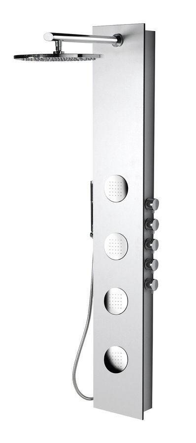 Polysan 5SIDE ROUND sprchový panel 250x1550mm, bílá