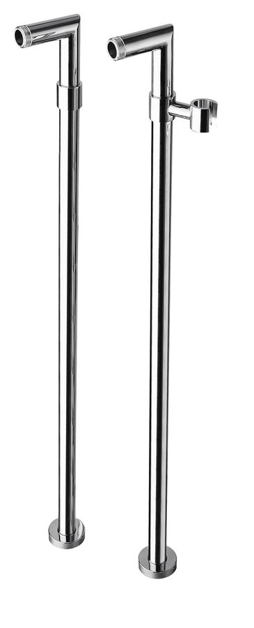 Reitano Rubinetteria Připojení pro instalaci vanové baterie do podlahy (pár), chrom