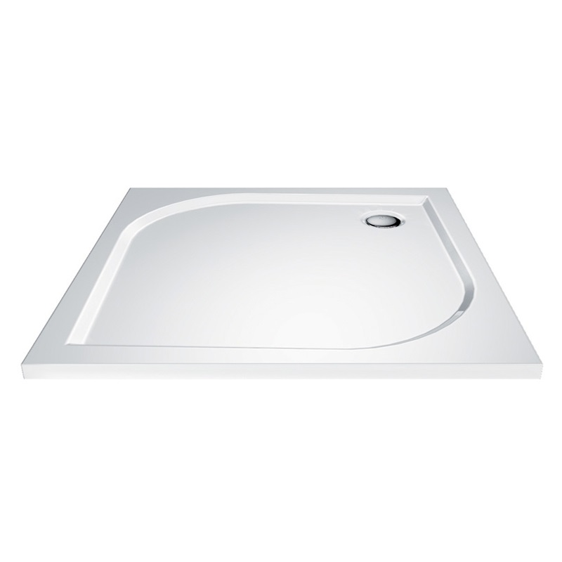 Mereo CV 80M Vanička sprchová litá, bílá, čtvercová, 100 x 100 x 3 cm