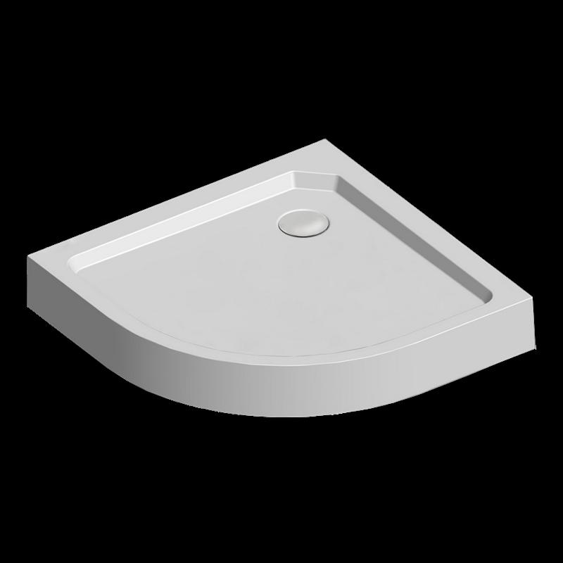Mereo Sprchová vanička R550, 90x90x15 cm, SMC, bílá, včetně nožiček a sifonu pr. 90 mm