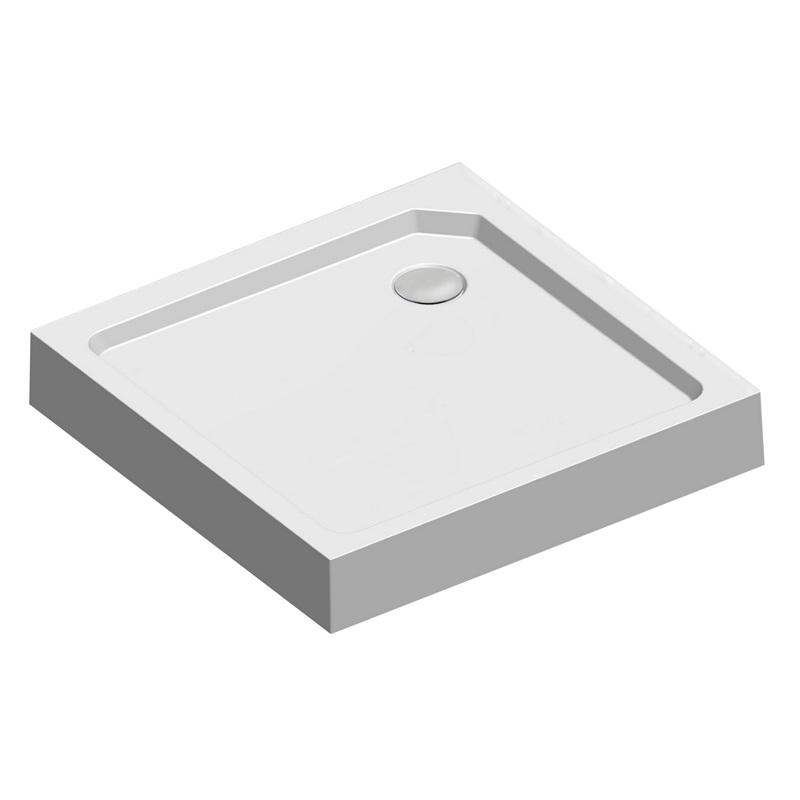 Mereo CV 31H Vanička sprchová, bílá, čtvercová, 90 x 90 x 17,5 cm