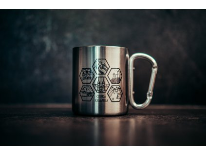 Karabiňák - stříbrný
