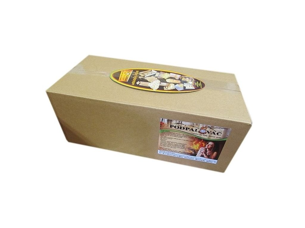 Podpalovač dřevitý  - kartonová krabice - 100/190 podpalovačů