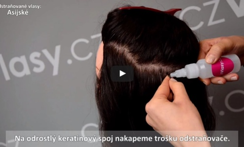 Prodloužení vlasů metodou keratin - odstranění keratinového spoje