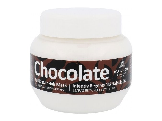 Kallos Chocolate Full Repair Mask 275 ml Čokoládová maska pro suché a lámavé vlasy