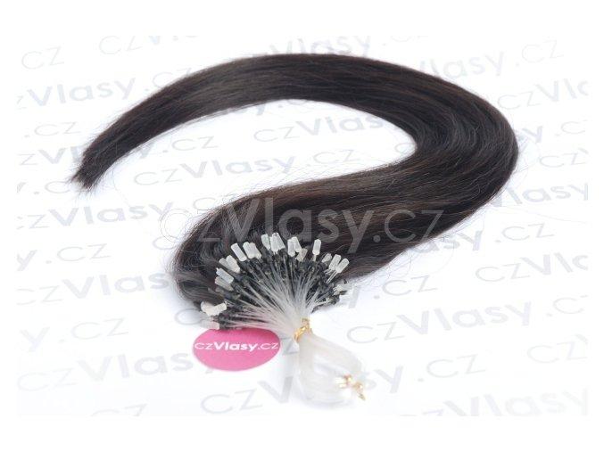 Asijské vlasy na metodu micro-ring odstín 1B