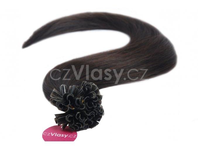 Asijské vlasy na metodu keratin odstín 1B po 20 ks