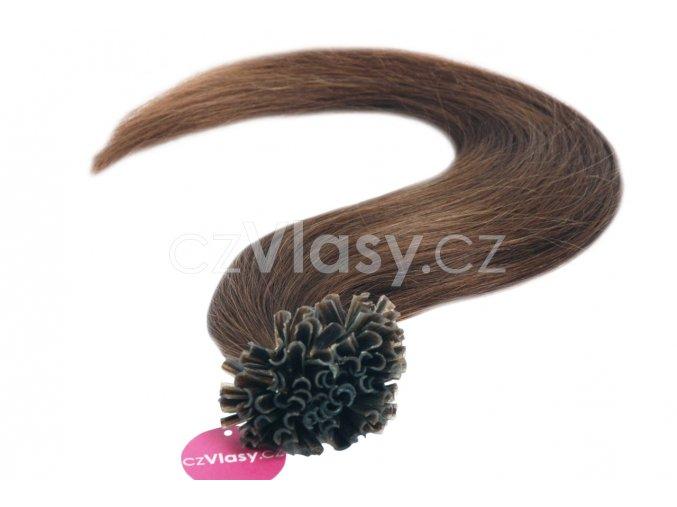 Asijské vlasy na metodu keratin odstín 4 po 20 ks