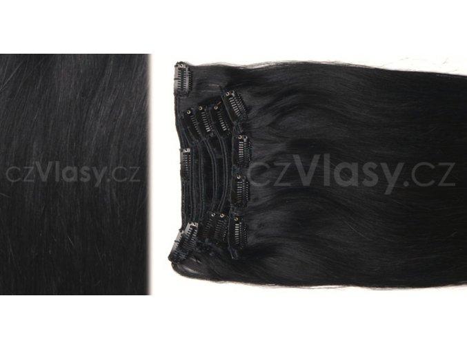 Clip in vlasy odstín 1B