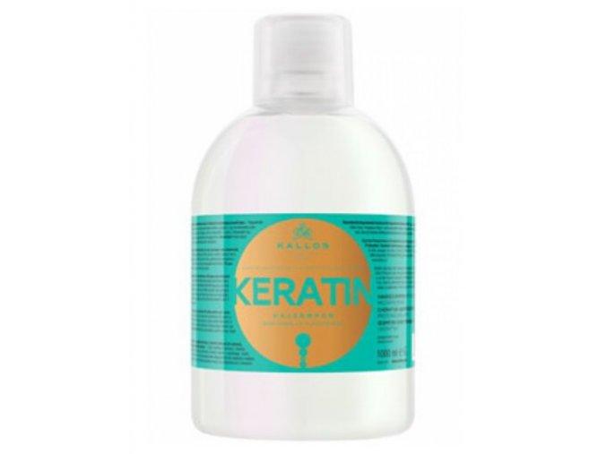 Kallos Keratin Shampoo 1000 ml - Regenerační šampon na suché, poškozené a chemicky ošetřené vlasy