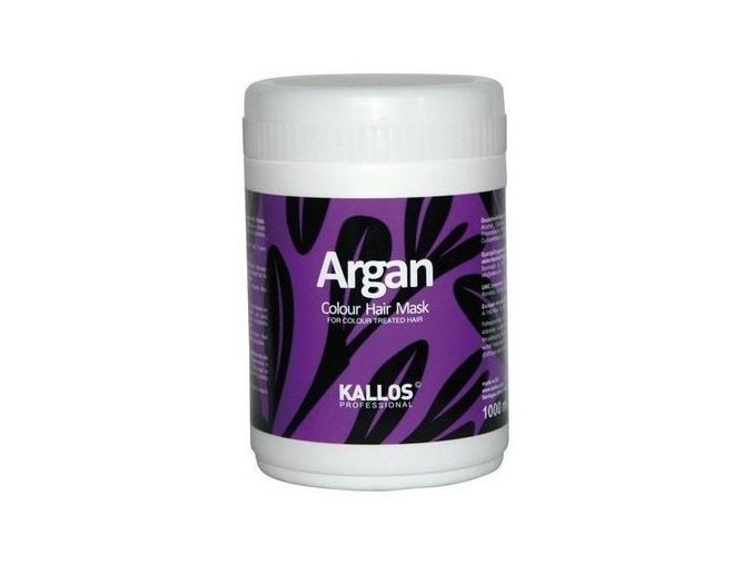 Kallos Argan Colour Hair Mask 1000 ml Maska pro barvené vlasy
