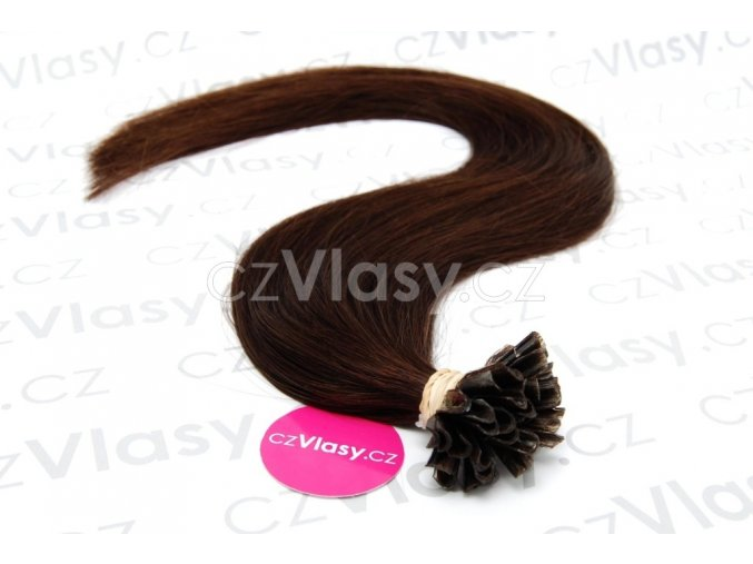 Indické vlasy na metodu keratin odstín 2