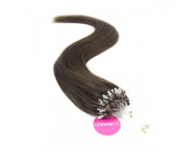 Indické vlasy na metodu micro-ring odstín 2