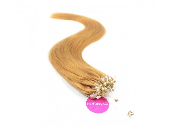 Indické vlasy na metodu micro-ring odstín 27